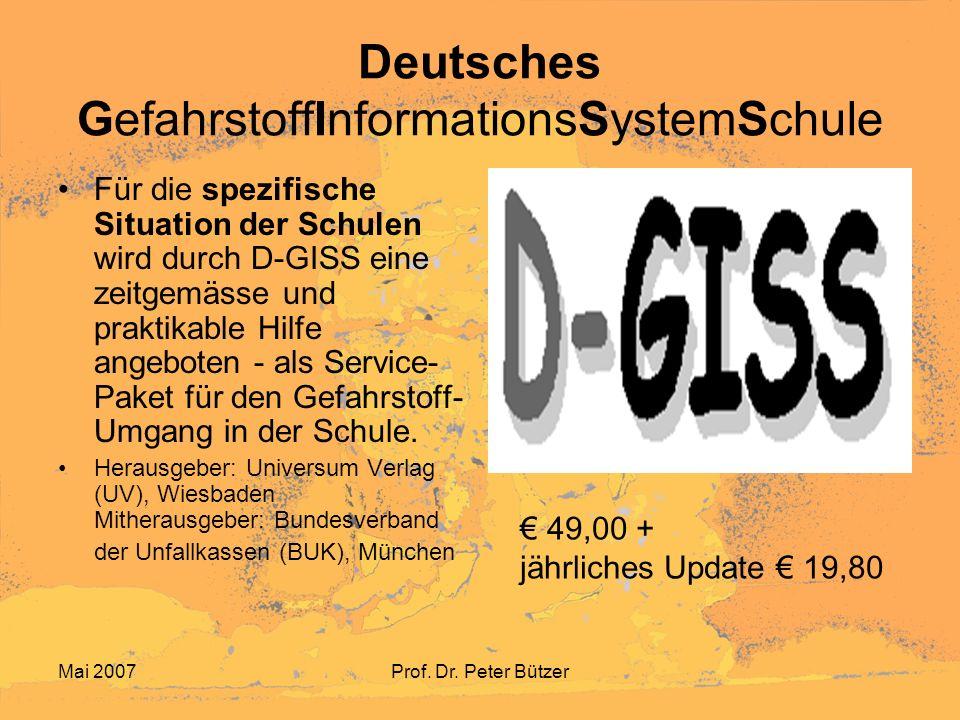 Deutsches GefahrstoffInformationsSystemSchule