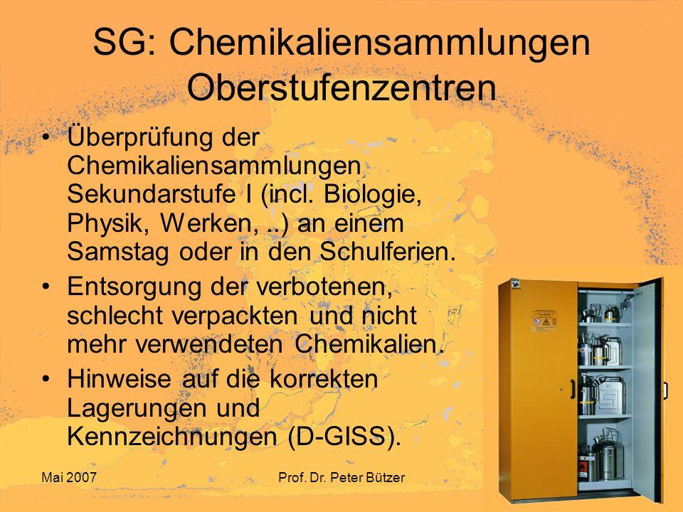 SG: Chemikaliensammlungen Oberstufenzentren