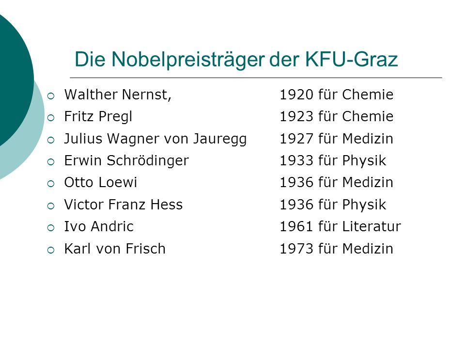 Die Nobelpreisträger der KFU-Graz