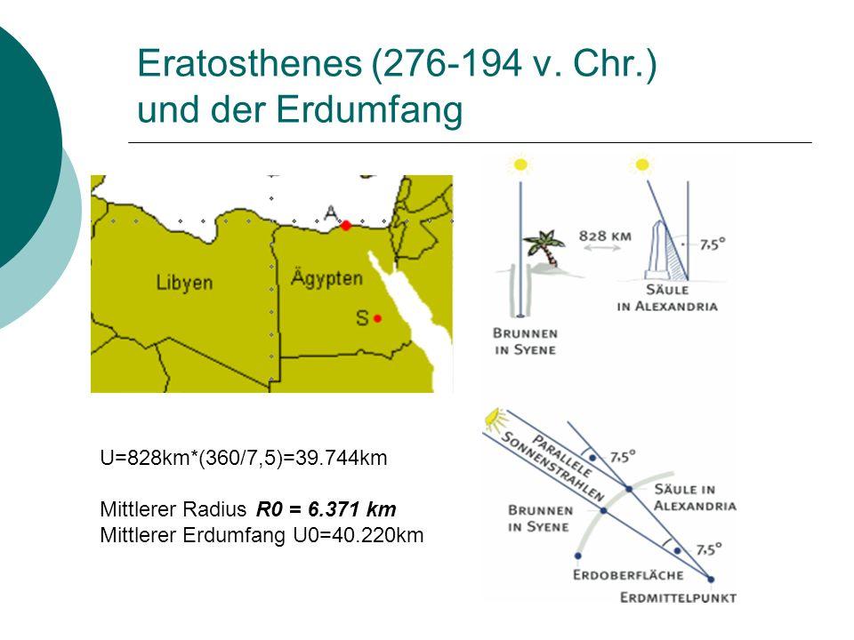 Eratosthenes (276-194 v. Chr.) und der Erdumfang