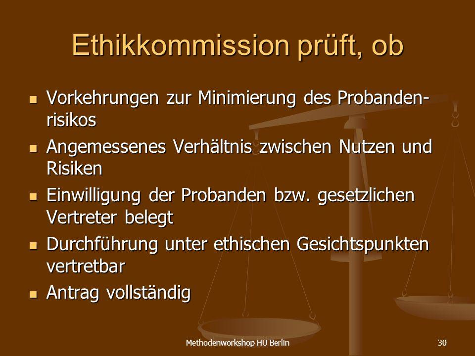 Ethikkommission prüft, ob