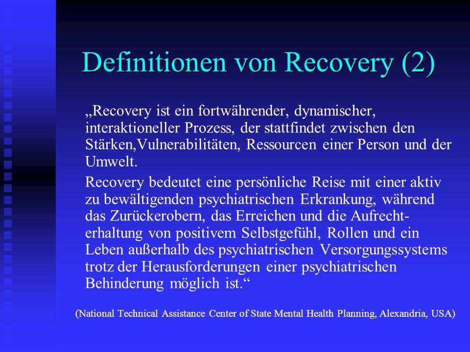 Definitionen von Recovery (2)