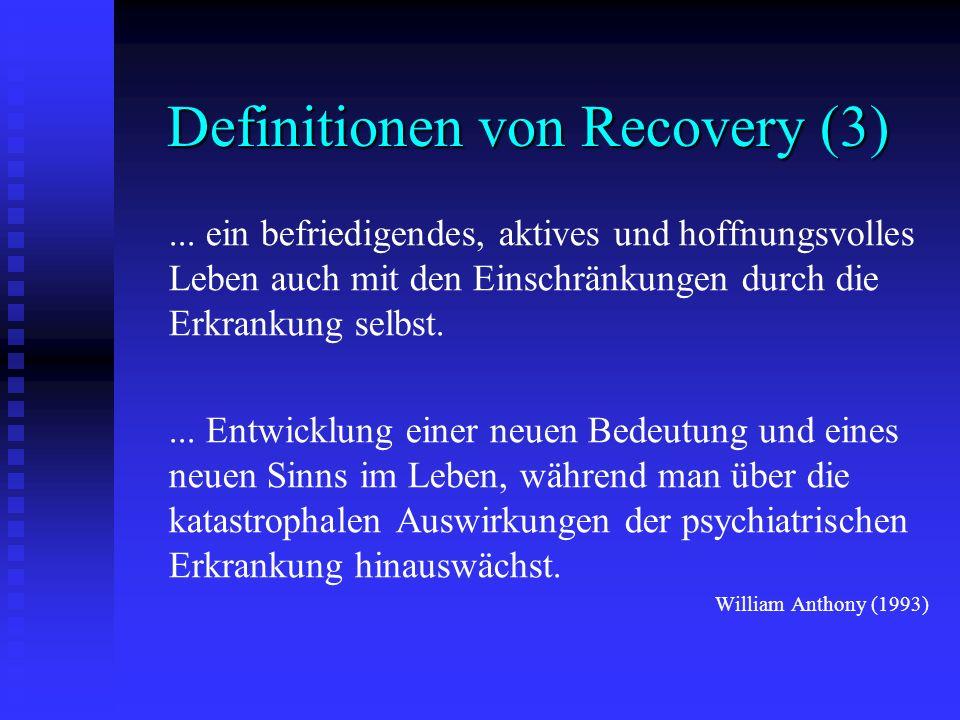 Definitionen von Recovery (3)