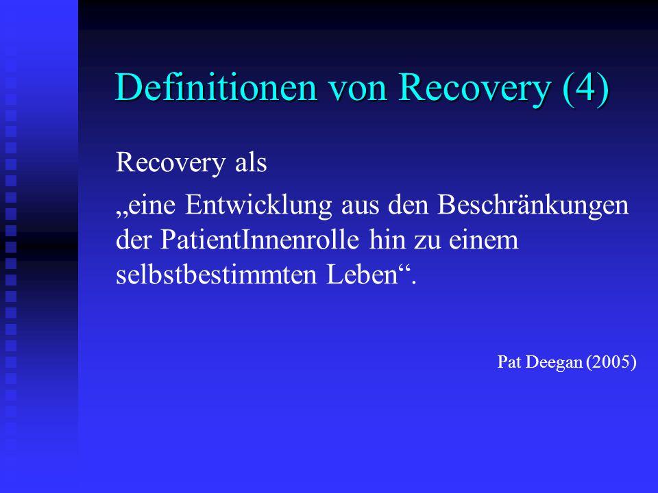 Definitionen von Recovery (4)
