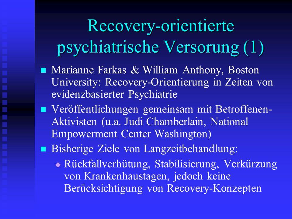 Recovery-orientierte psychiatrische Versorung (1)