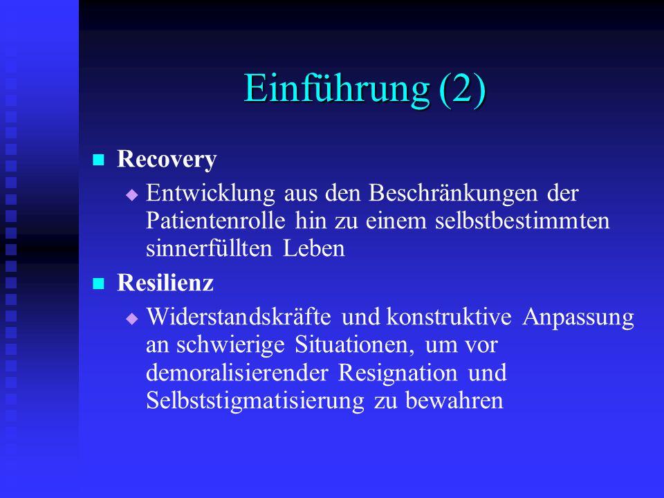 Einführung (2) Recovery