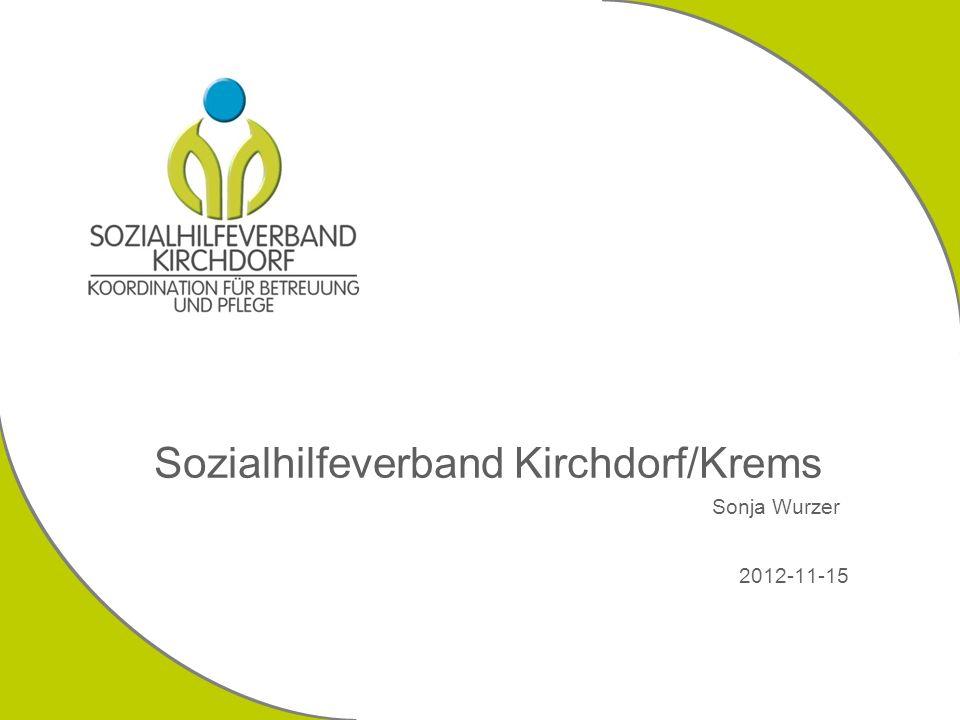 Sozialhilfeverband Kirchdorf/Krems Sonja Wurzer 2012-11-15
