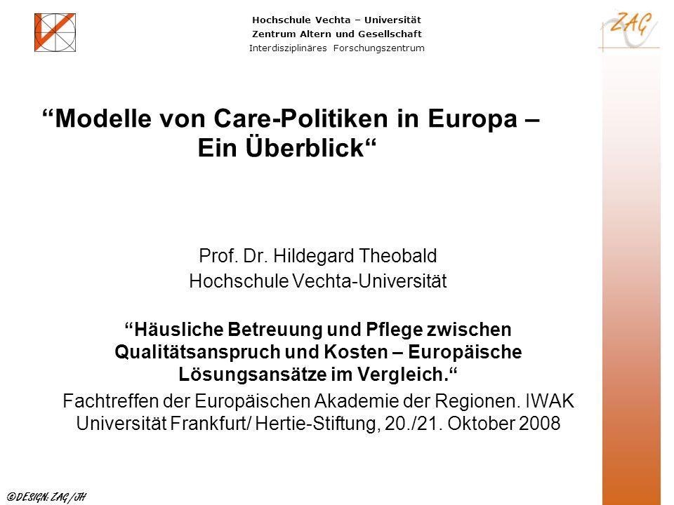 Modelle von Care-Politiken in Europa – Ein Überblick