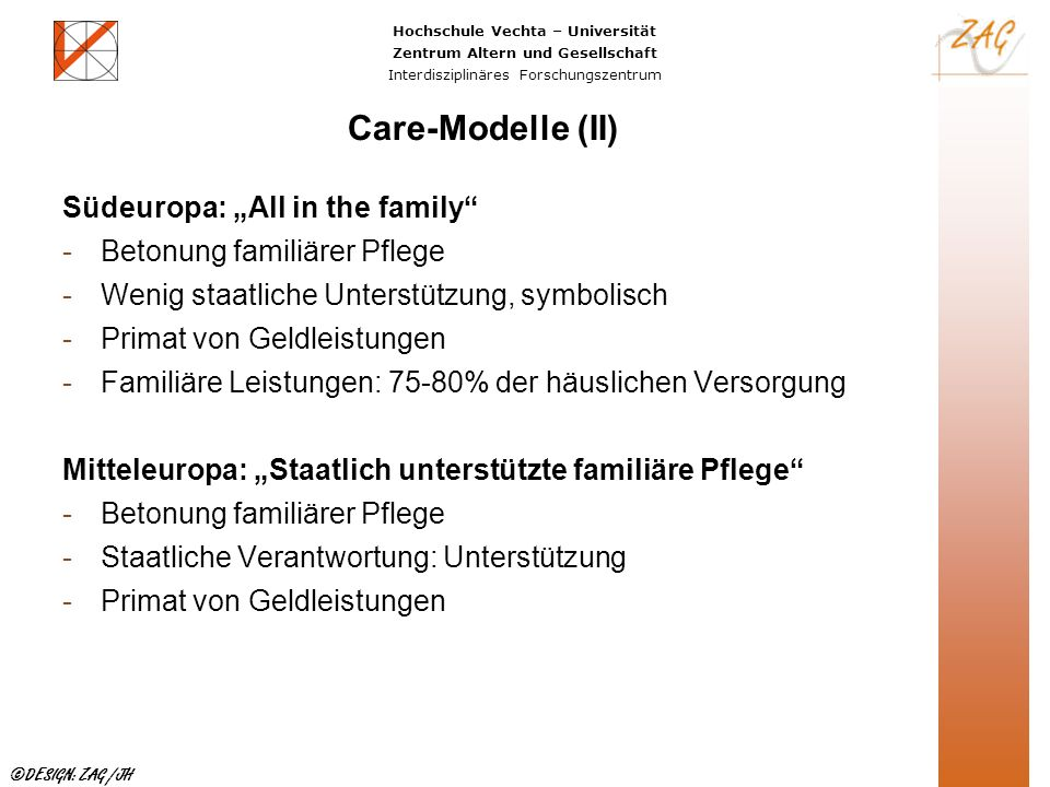 "Care-Modelle (II) Südeuropa: ""All in the family"