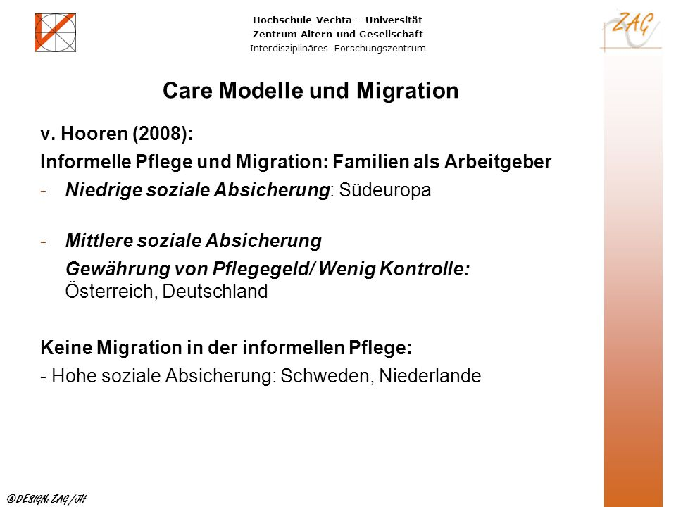 Care Modelle und Migration