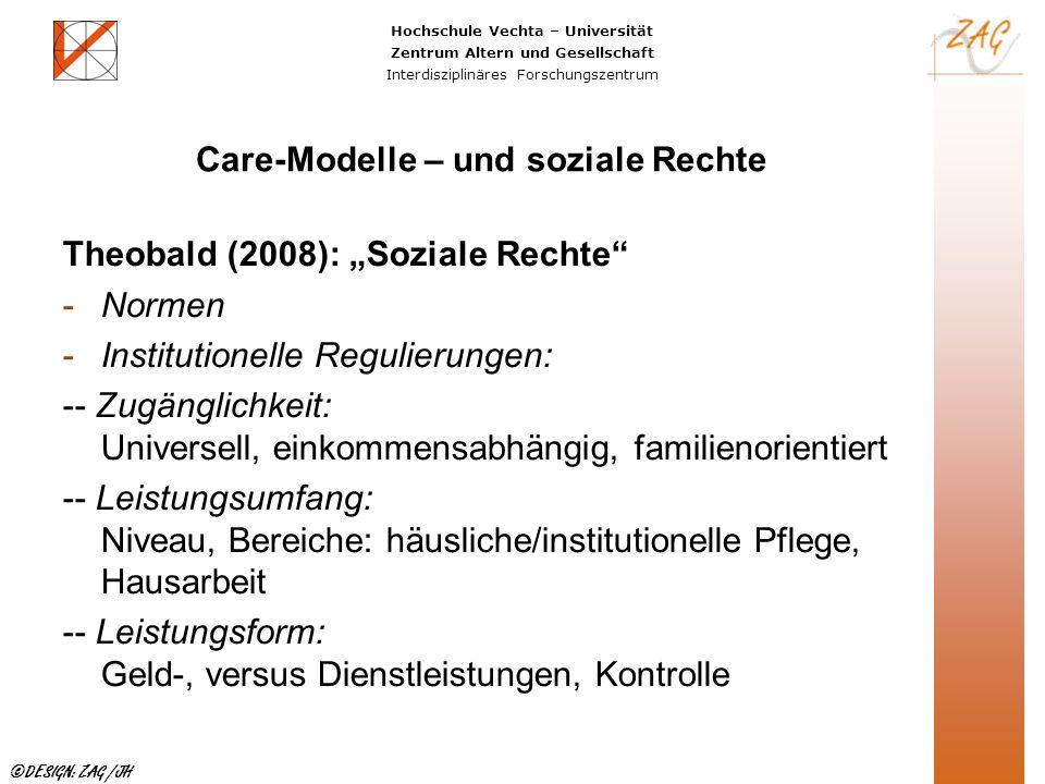 Care-Modelle – und soziale Rechte