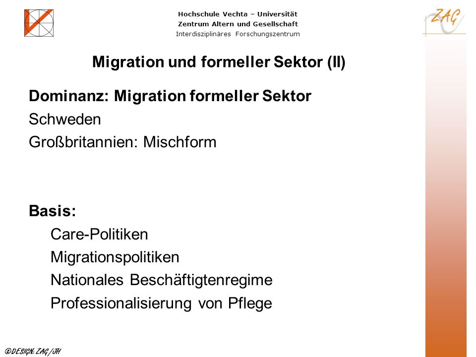 Migration und formeller Sektor (II)