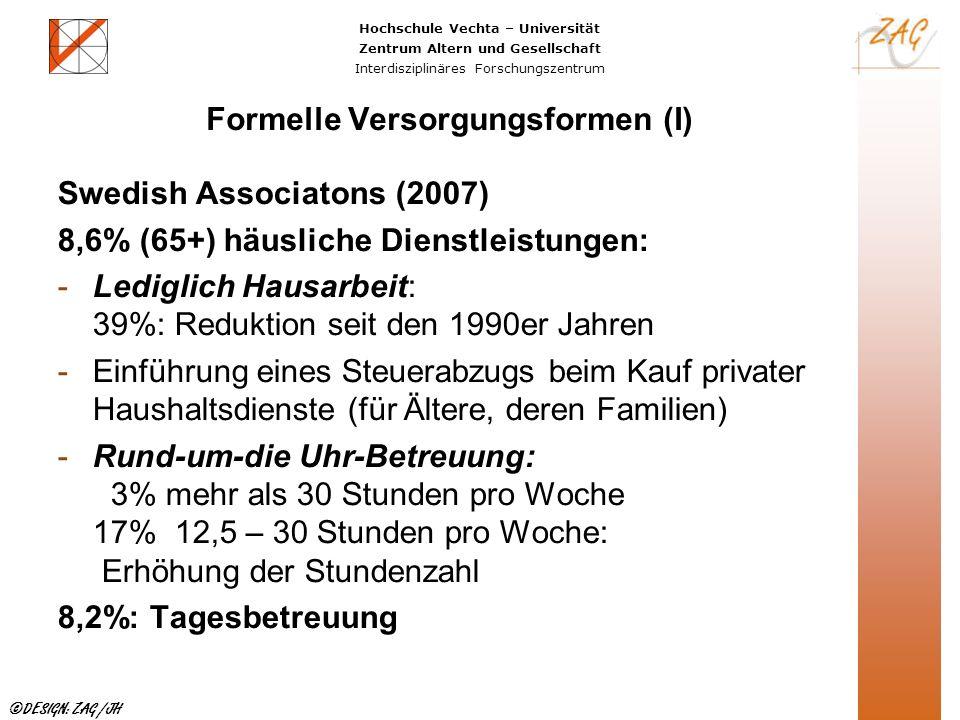 Formelle Versorgungsformen (I)