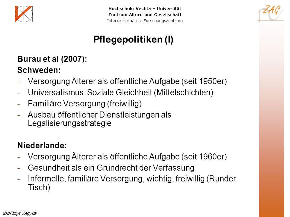 Pflegepolitiken (I) Burau et al (2007): Schweden: