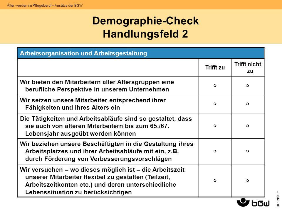 Demographie-Check Handlungsfeld 2