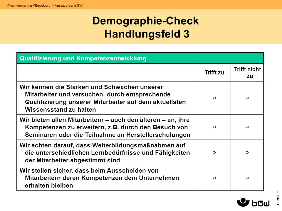 Demographie-Check Handlungsfeld 3