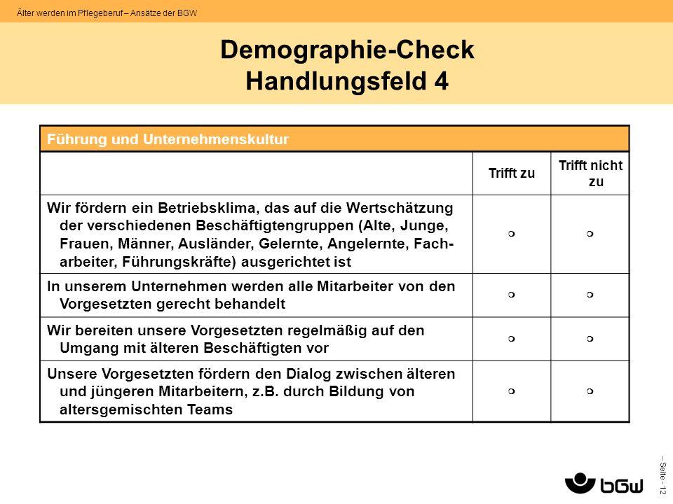 Demographie-Check Handlungsfeld 4