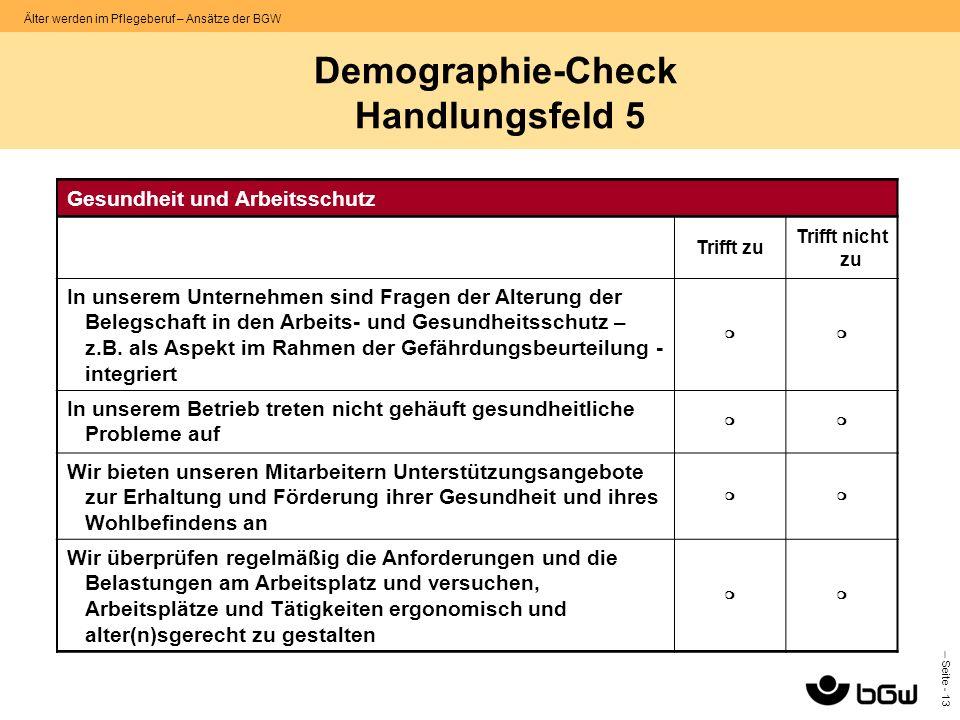 Demographie-Check Handlungsfeld 5