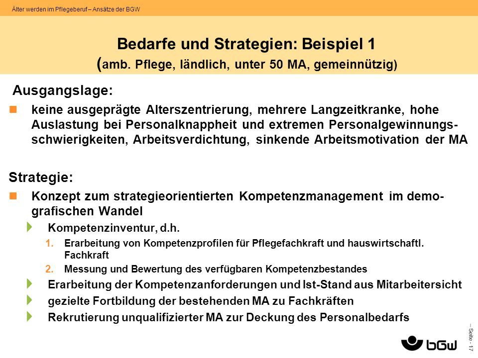 Bedarfe und Strategien: Beispiel 1 (amb