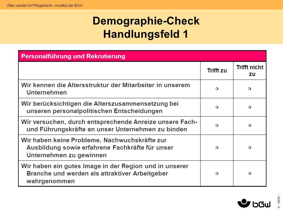 Demographie-Check Handlungsfeld 1