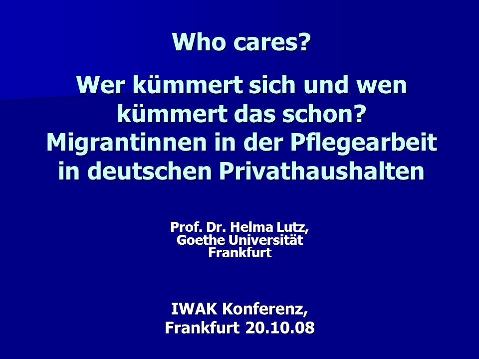 Prof. Dr. Helma Lutz, Goethe Universität Frankfurt