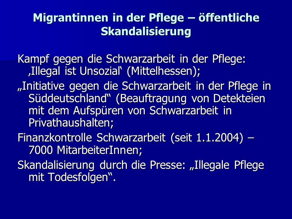 Migrantinnen in der Pflege – öffentliche Skandalisierung