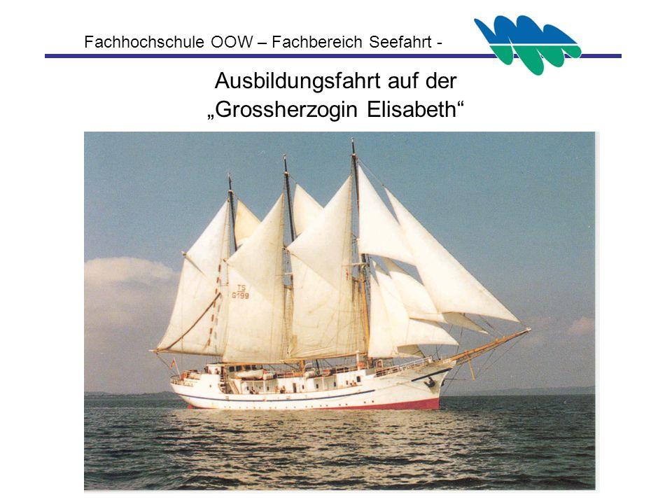 """Ausbildungsfahrt auf der """"Grossherzogin Elisabeth"""