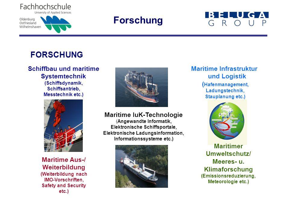Forschung FORSCHUNG Schiffbau und maritime Systemtechnik