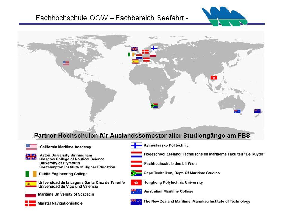 Partner-Hochschulen für Auslandssemester aller Studiengänge am FBS