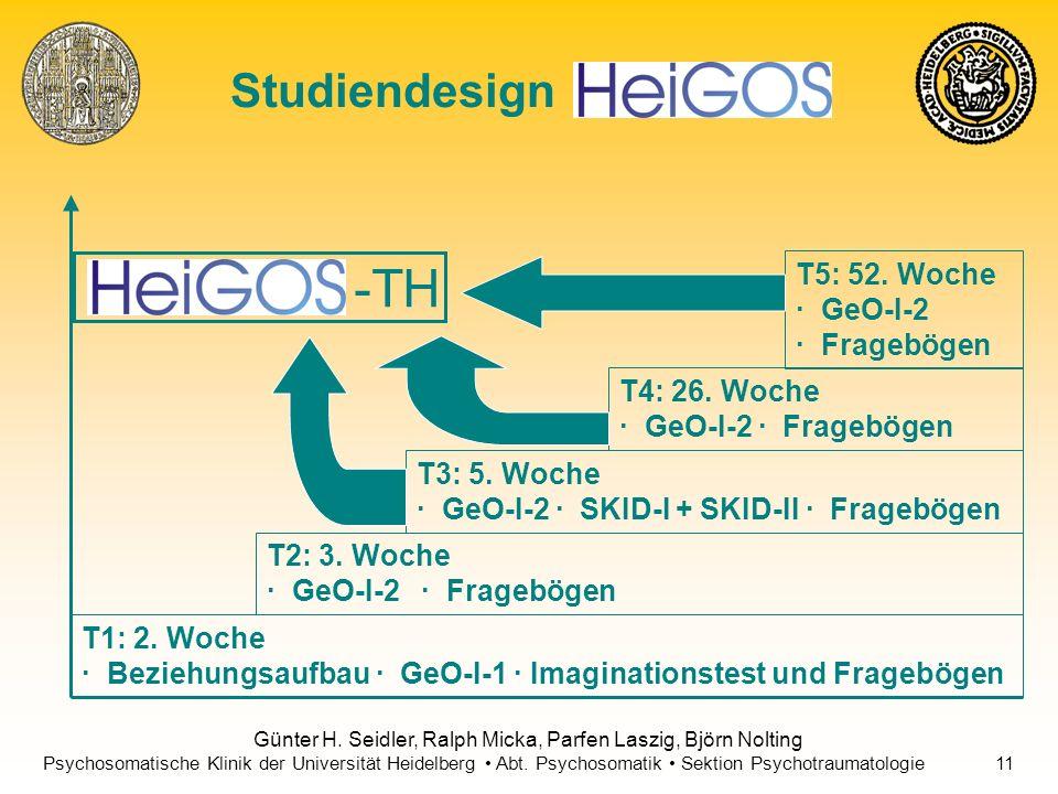 -TH Studiendesign T5: 52. Woche · GeO-I-2 · Fragebögen T4: 26. Woche