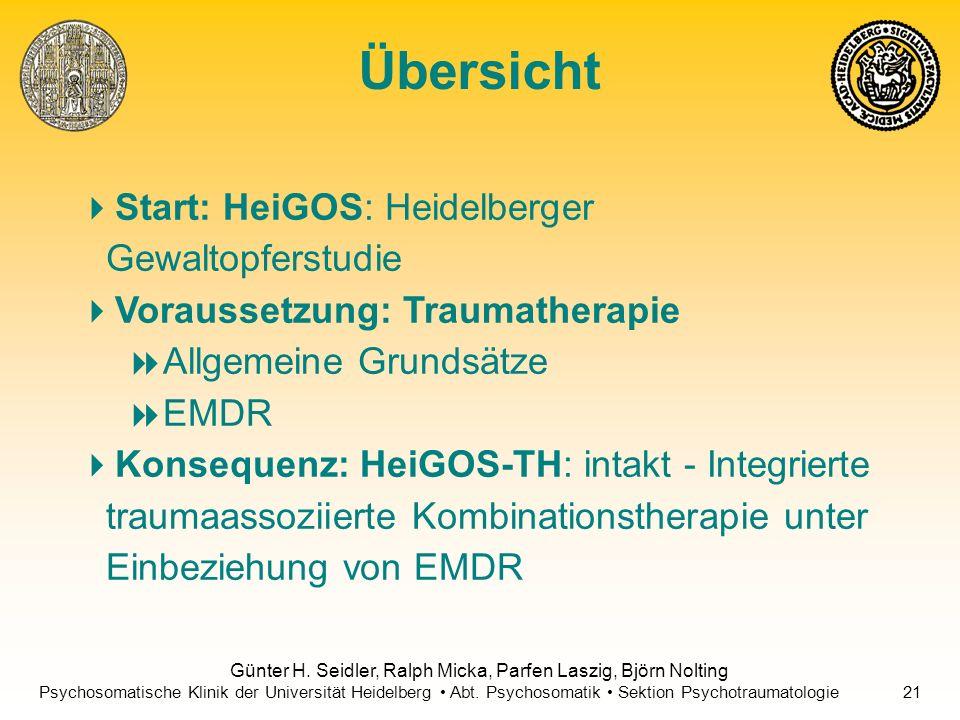Übersicht Start: HeiGOS: Heidelberger Gewaltopferstudie