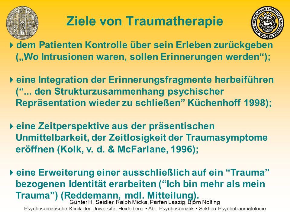 Ziele von Traumatherapie
