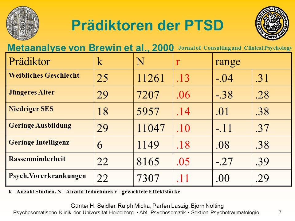 Metaanalyse von Brewin et al., 2000