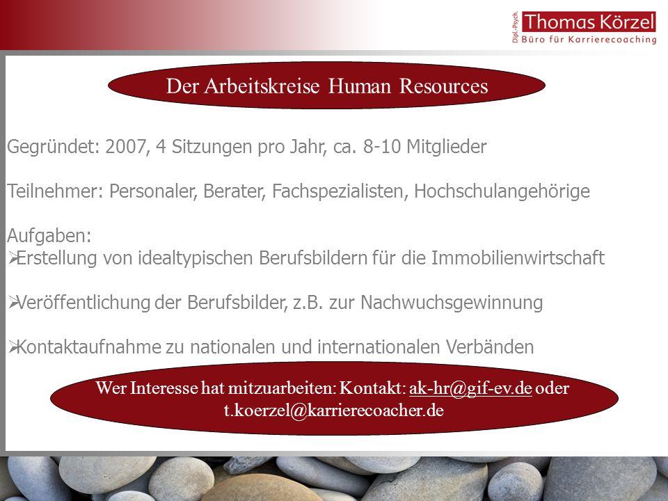 Der Arbeitskreise Human Resources