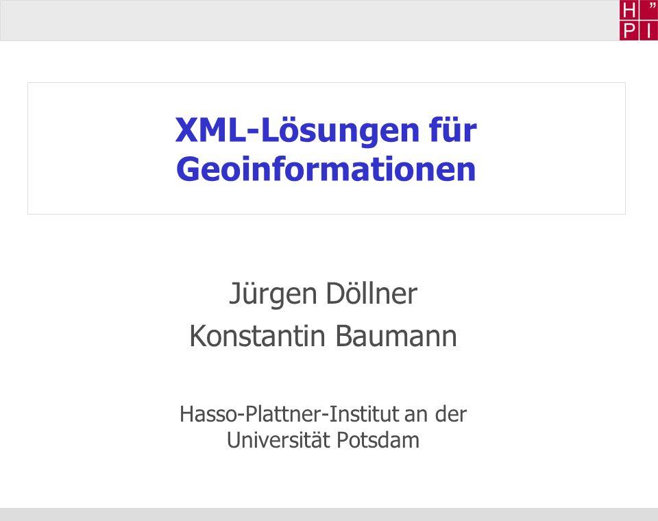 XML-Lösungen für Geoinformationen