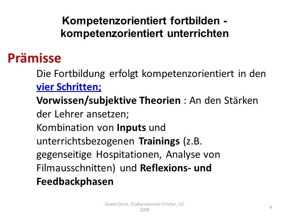 Kompetenzorientiert fortbilden - kompetenzorientiert unterrichten