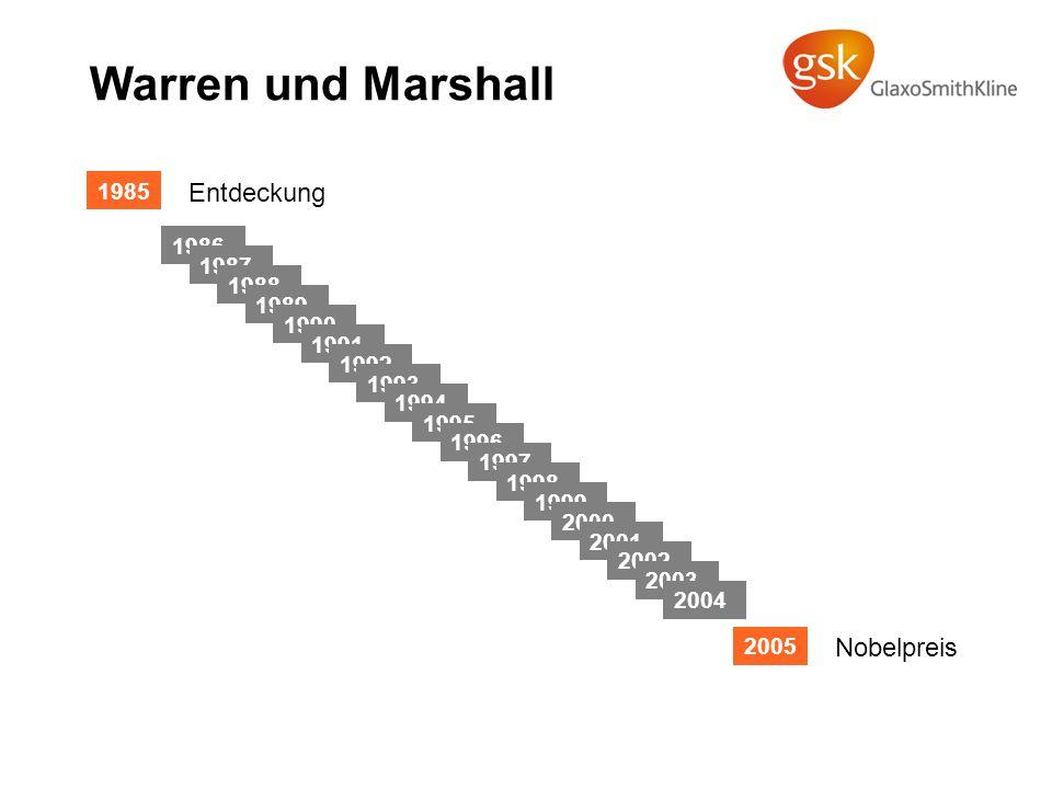 Warren und Marshall Entdeckung Nobelpreis 1985 1986 1987 1988 1989