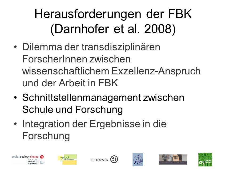 Herausforderungen der FBK (Darnhofer et al. 2008)