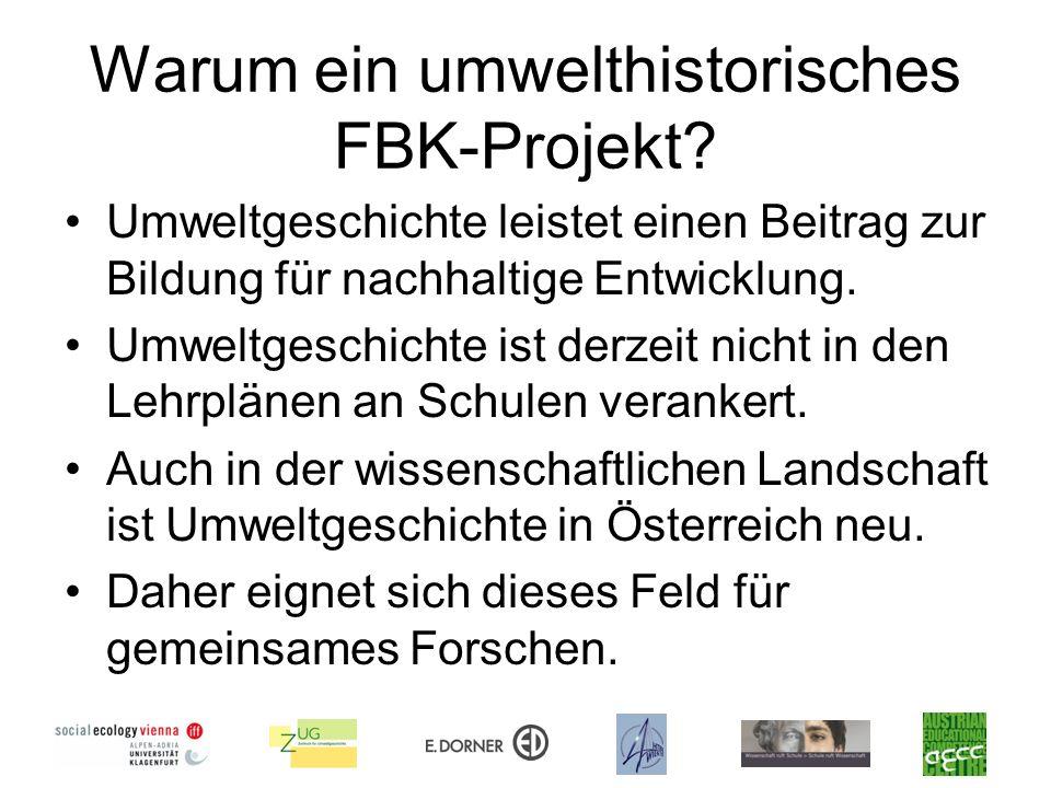 Warum ein umwelthistorisches FBK-Projekt