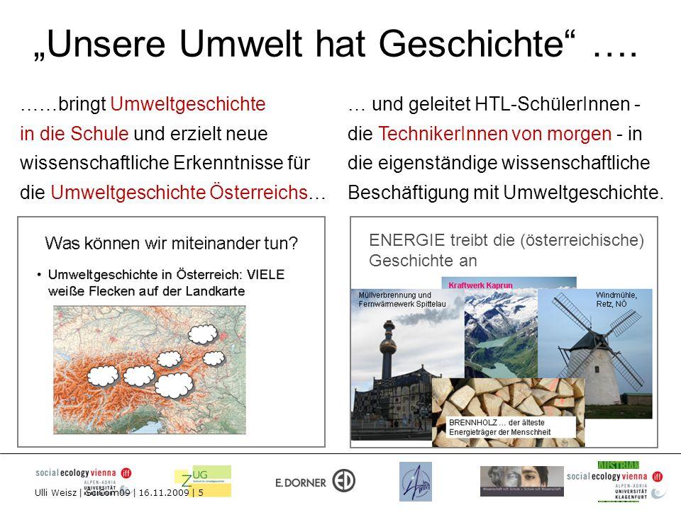 """""""Unsere Umwelt hat Geschichte …."""