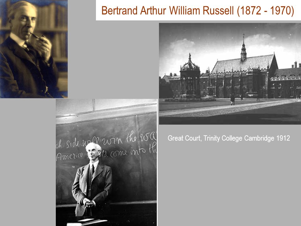 Bertrand Arthur William Russell (1872 - 1970)