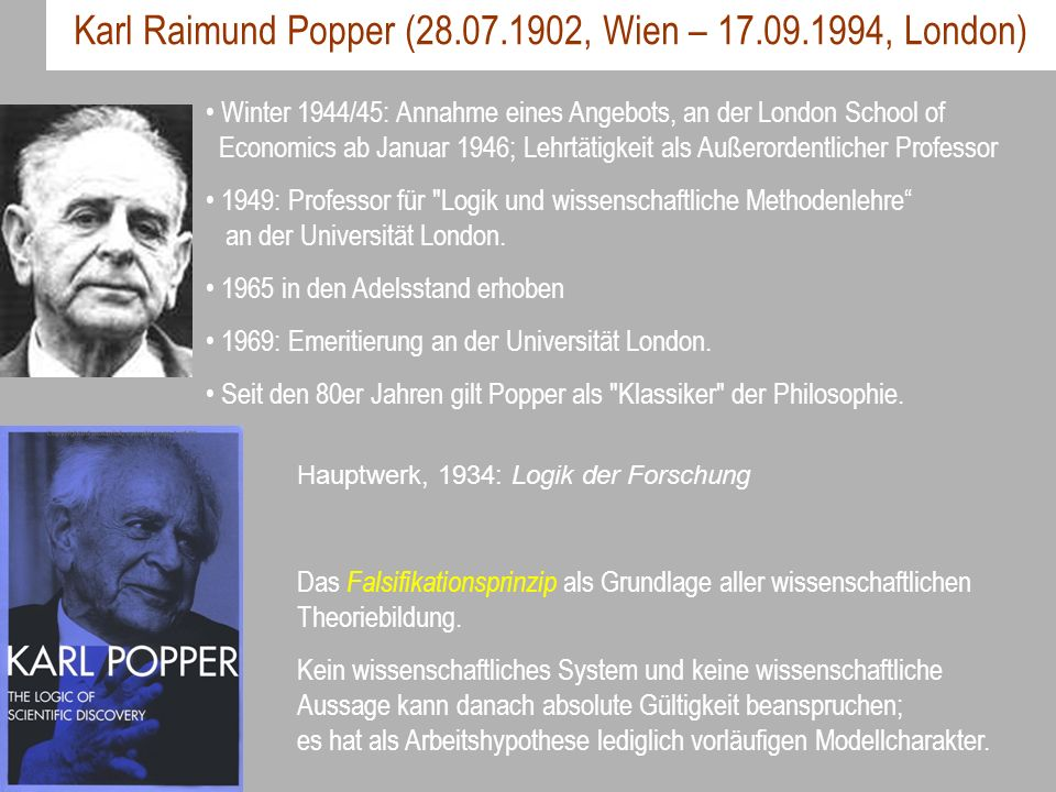 Karl Raimund Popper ( , Wien – , London)