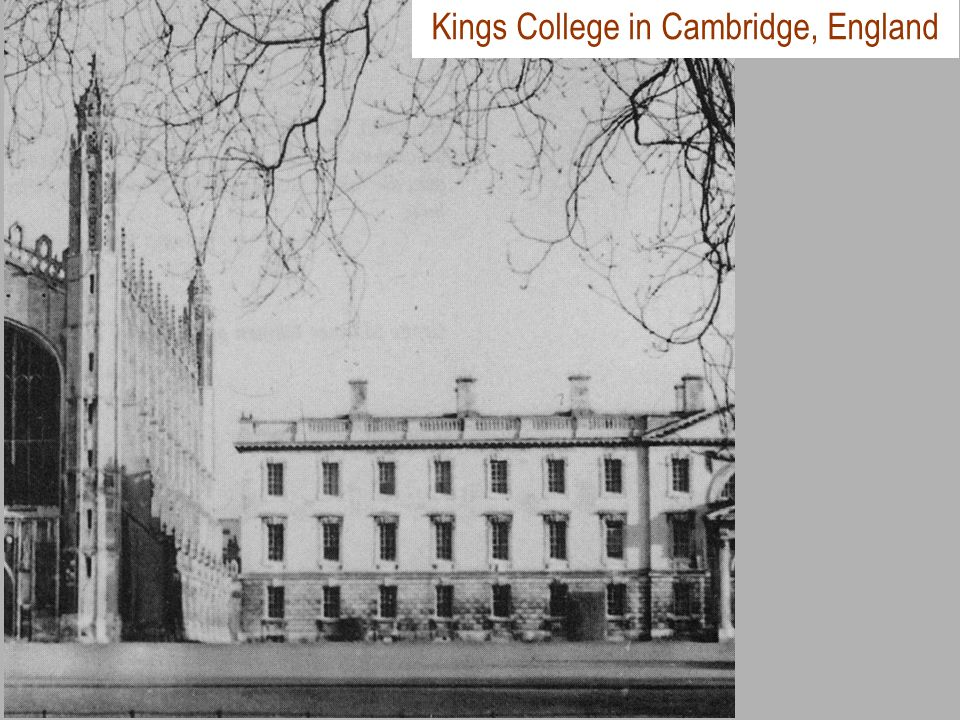 Kings College in Cambridge, England