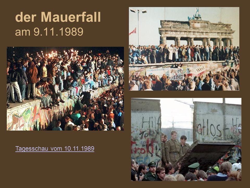 der Mauerfall am 9.11.1989 Tagesschau vom 10.11.1989
