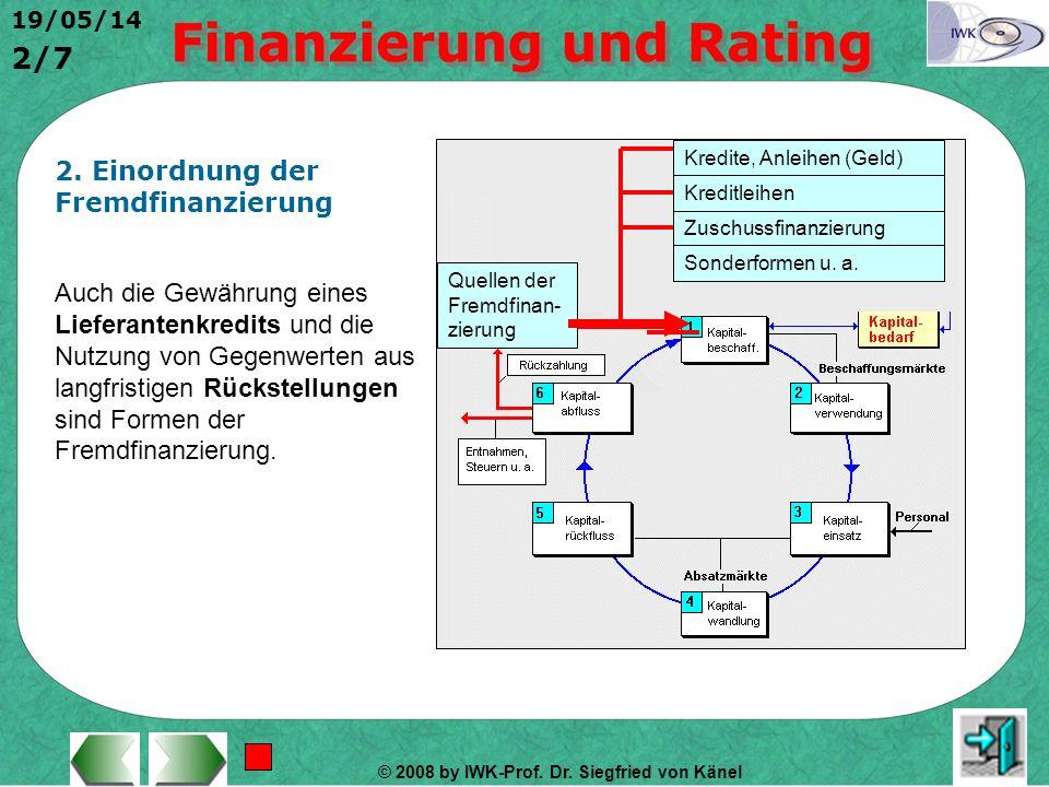 2. Einordnung der Fremdfinanzierung