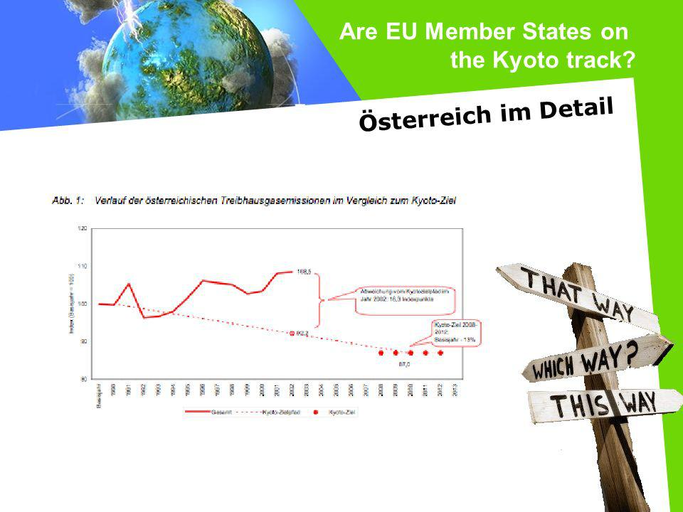Are EU Member States on the Kyoto track Österreich im Detail