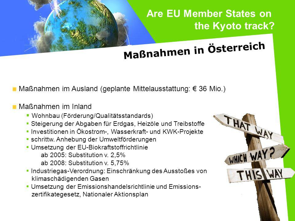 Are EU Member States on the Kyoto track Maßnahmen in Österreich