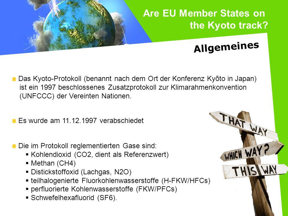 Are EU Member States on the Kyoto track Allgemeines