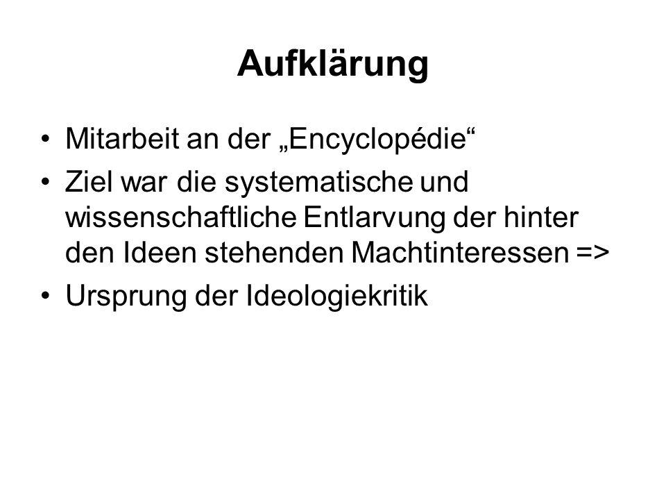 """Aufklärung Mitarbeit an der """"Encyclopédie"""