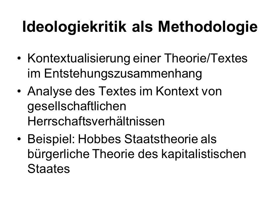 Ideologiekritik als Methodologie